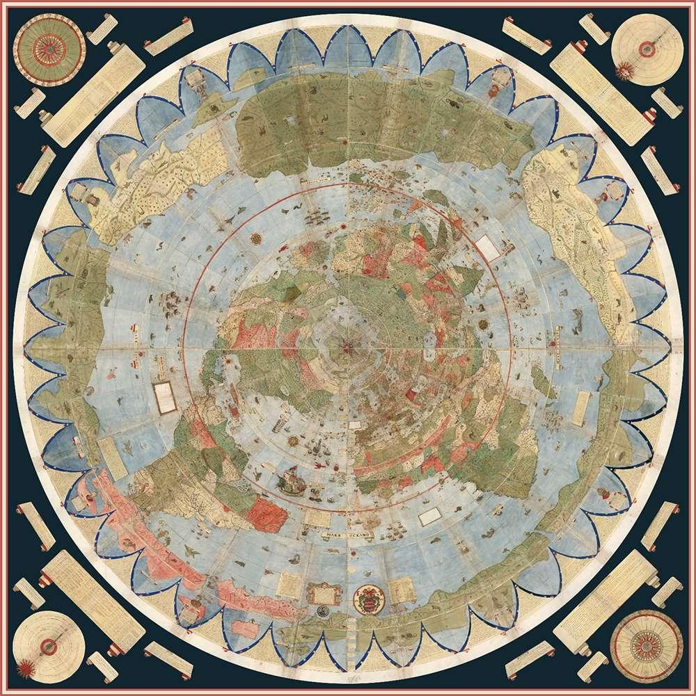 صفحات این نقشه که ۳ متر طول و ۳ متر عرض خواهد داشت به شکلی که نقاشش در نظر داشت به هم دوخته شد.